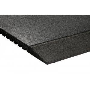 Fitness rubber sportvloertegel oploopprofiel 100x20x4,3cm