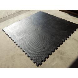 Rubber puzzelmat 100x100x1,5 cm