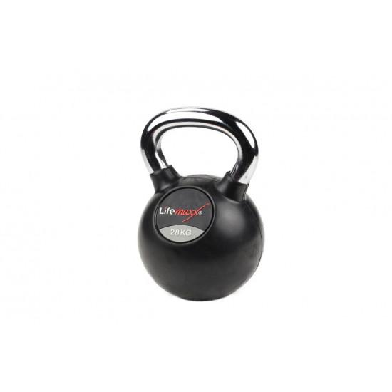Rubber Kettlebell | Chromed handle