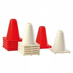 Cones wit of rood