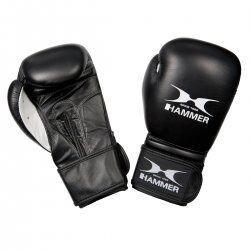 Hammer Premium Fight bokshandschoen - Rundleder zwart
