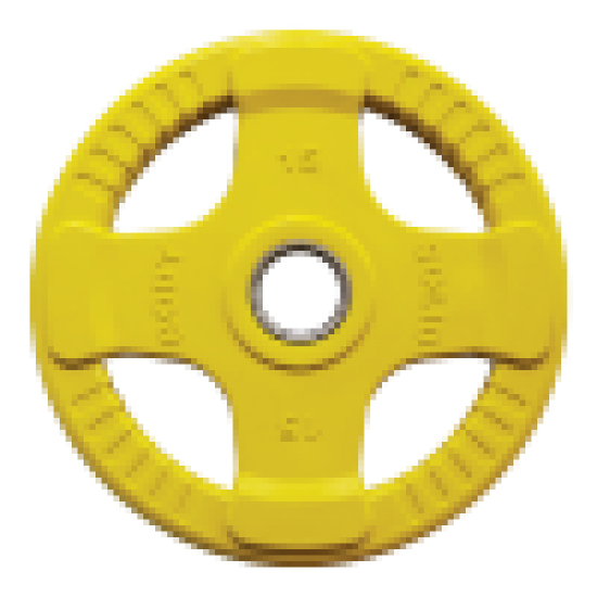 Body-Solid Gekleurde Rubberen Olympische Halterschijven 50 mm ORCK - per stuk1,25 kg - Donkergrijs