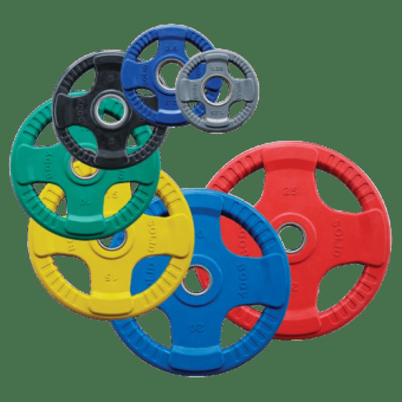 Olympische Halterset Rubber Gekleurd Kopen Gratis