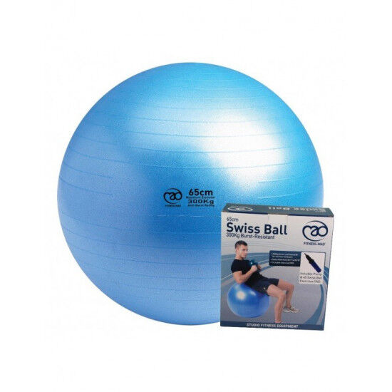 Swiss Ball 300 kg, 75 cm met pomp en online oefeningen