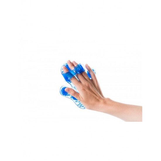 Massage handschoen Flowee Paars