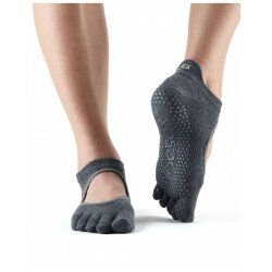 ToeSox Bellarina Met Tenen In Charcoal Grey