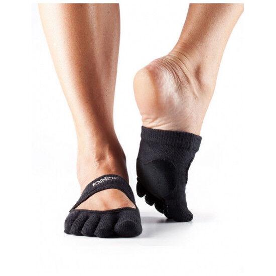 ToeSox Dans Sokken met Tenen Releve   Zwart S/M/L