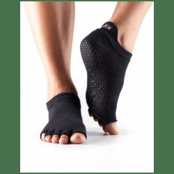 Enkelsokken zonder tenen ToeSox | Zwart S/M/L