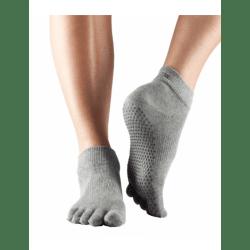 Toesox sokken met tenen antislip grijs