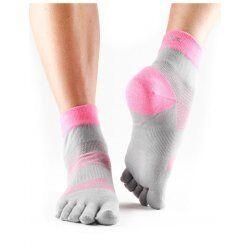 ToeSox sokken met tenen Minnie Flush | Grijs/roze