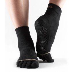 Toesox sokken met tenen Zwart