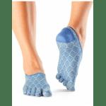 ToeSox sneakersokken met tenen Casual Dash in Tile - blauw/wit