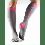 Compressiekousen teen sokken ToeSox Zoe Daylight - Geel-Grijs