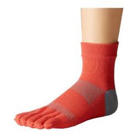 Toesox sokken met tenen Minnie Papaya   Oranje grijs S/M