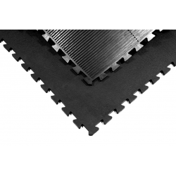 Natuur rubber puzzelmat heavy 100x100x1,7 cm