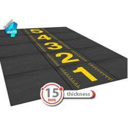 Gym flooring fitnesstegels 100x100x1,5 cm zwart