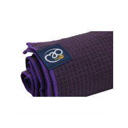 Anti slip handdoek mat Aubergine