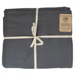 Handgeweven katoenen deken - Donker Grijs