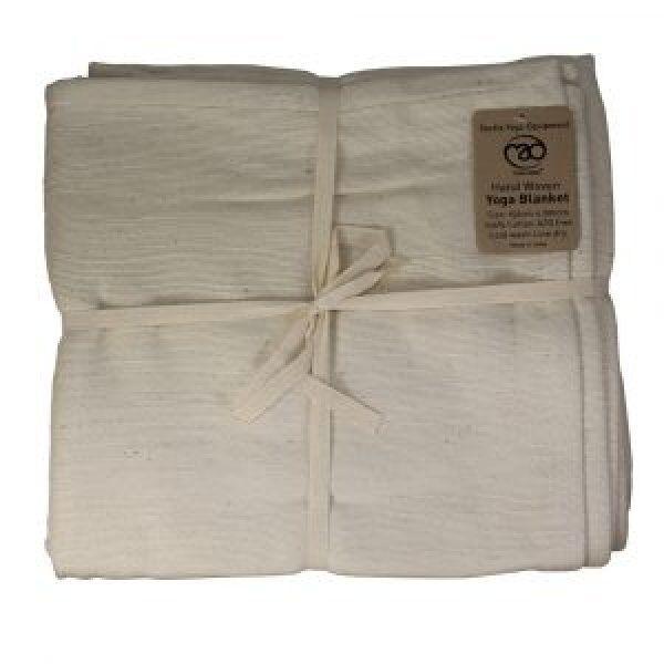 Handgeweven katoenen deken - Natuurlijk