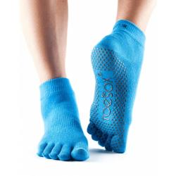 Antislip sokken met tenen Blauw
