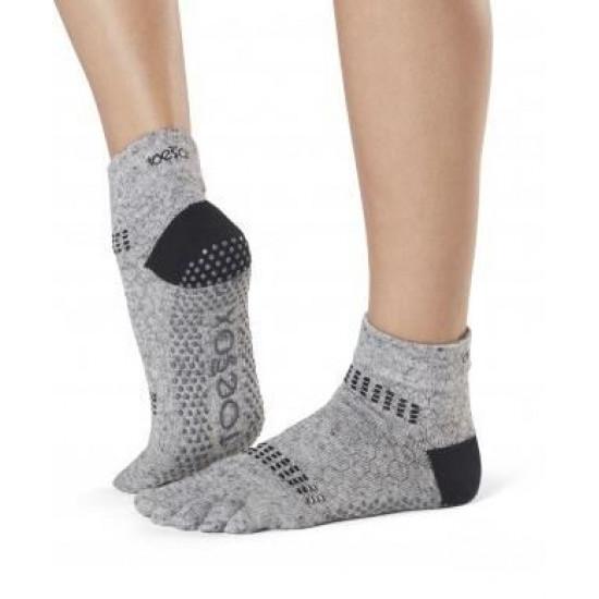 Antislip Sokken Met Tenen In Jet - ToeSox S/M