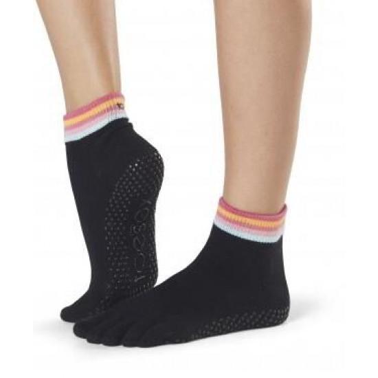 Antislip Sokken Met Tenen In Retro - ToeSox S/M