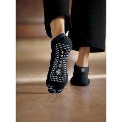 Gaiam antislip Sokken met tenen zwart met witte stippen