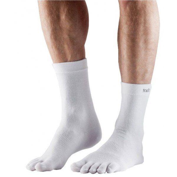 ToeSox sokken met tenen Crew Ultra Lite – Wit