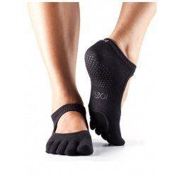 ToeSox Antislip Sokken met Tenen Plie Dans Sokken – Zwart