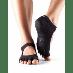ToeSox Antislip Sokken zonder Tenen Plie Dans Sokken – Zwart
