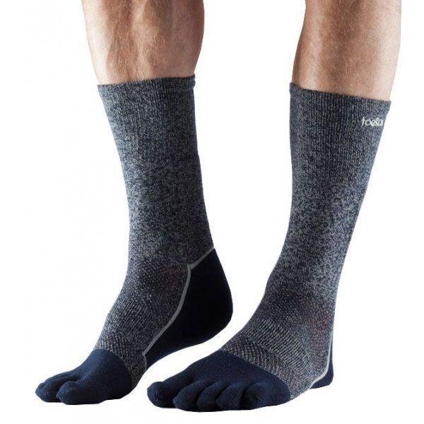 ToeSox sokken met tenen Crew Medium Weight – Navy