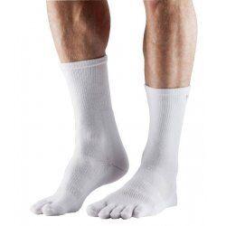 ToeSox sokken met tenen Crew Medium Weight – Wit