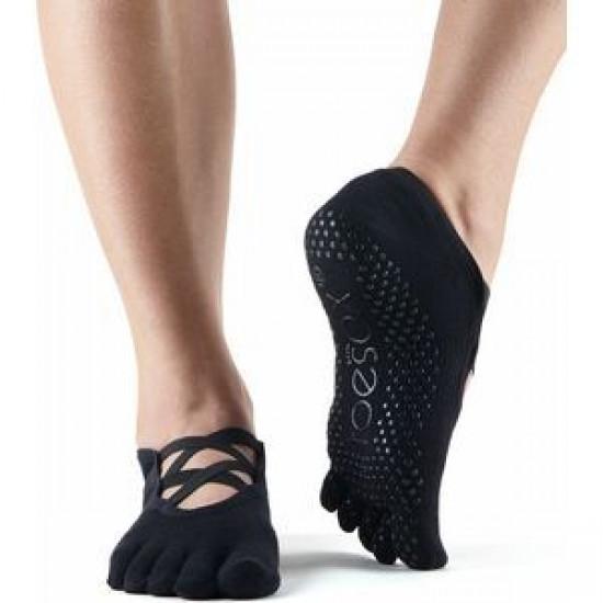 Toesox Elle met tenen zwart S/M