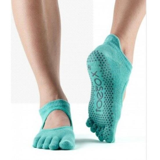 Toesox Bellarina sokken met tenen Aqua S/M