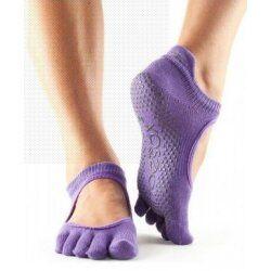 Antislip Bellarina sokken met Tenen van Toesox – Paars
