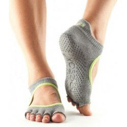 ToeSox Bellarina Zonder Tenen In Heather/Lime