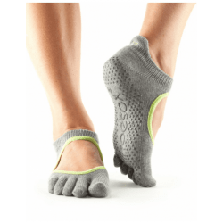 ToeSox Sokken Met Tenen Bellarina - grijs-lime