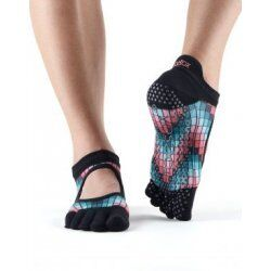 Antislip sokken met tenen van Toesox - Flamingo