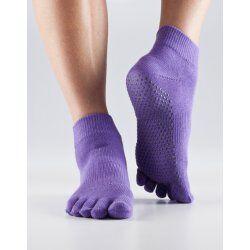 Antislip sokken met tenen - Paars