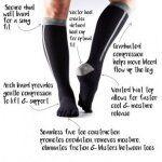 Compressiekousen teen sokken ToeSox Zoe – Ice