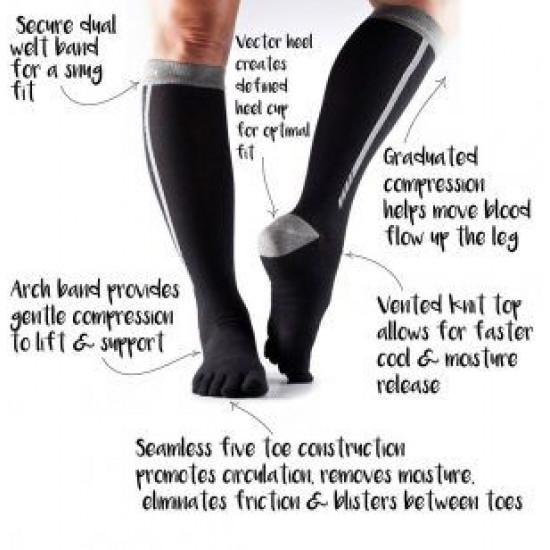 Compressiekousen teen sokken ToeSox Zoe – Ice M