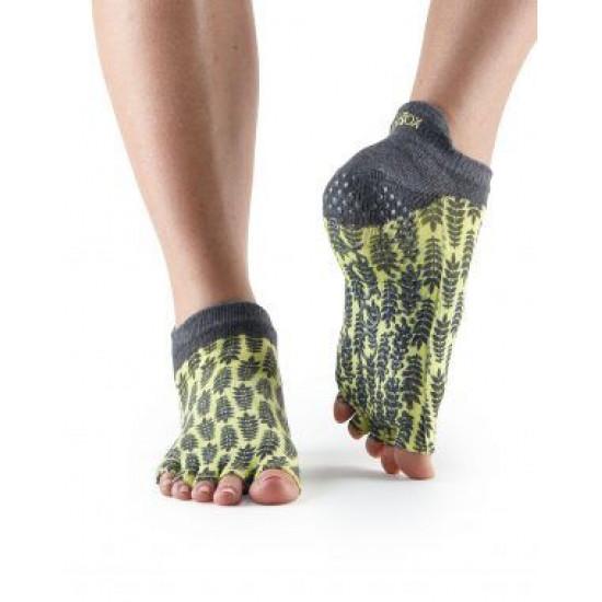 Antislip Sokken Enkel Zonder Tenen In Citroen – ToeSox S/M