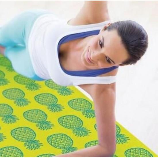 Pilates -Yoga Mat Ananas 173x61x0,6cm
