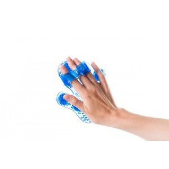 Massage handschoen Flowee Blauw