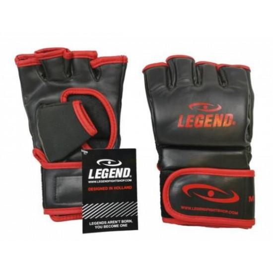 Legend Flow MMA handschoenen of Bokszak handschoenen zwart-rood