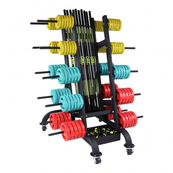 Bodypump rack for max. 30 sets