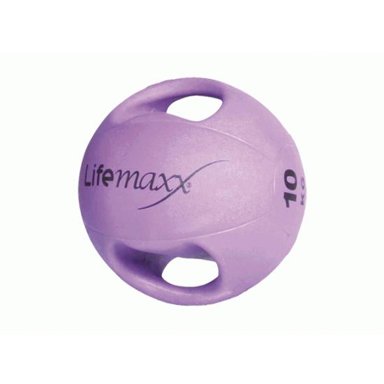 Double handle medicine ball