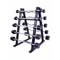 Barbell rack for 10 pcs (black) LMX1067