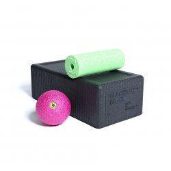 BLACKROLL® BLOCK SET Zwart, Groen, Roze - Yogablok met fascia