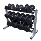 Body Solid Dumbbells Rack GDR363  3 laags